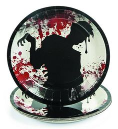 Zombie Party Dessert Plates :: Houseware :: Weird Stuff :: House of Mysterious Secrets - Specializing in Horror Merchandise & Collectibles  $2.50 (8 per pack)