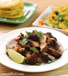 Pork belly makes fantastic, melt in the mouth carnitas and crisps up in its own rendered fat.
