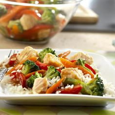 It couldn't be easier to get this savory stir-fry on the table, because it uses canned chicken and whatever vegetables you have on hand. No need for take-out tonight!
