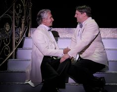 "George Hamilton as Georges and Christopher Sieber as Zaza in ""La Cage aux Folles"" © Paul Kolnik  #LaCage@SegerstromCenter"