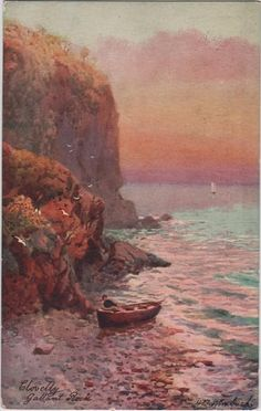 Vintage postcard of Gallant Rock Clovelly by DakotabooVintage