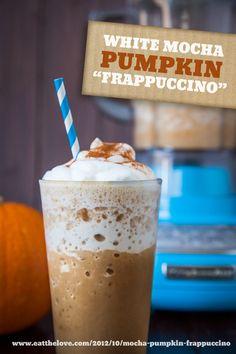 White Mocha Pumpkin Frappuccino