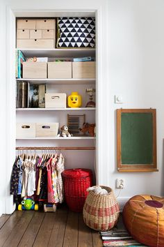 closet in kids room