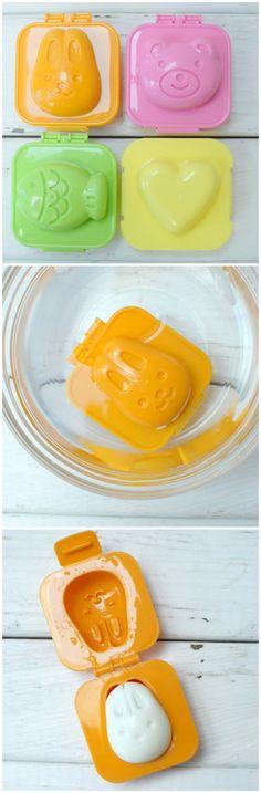 Hard Boiled Egg Molds. Cute and perfect for leftover Easter Eggs. BoulderLocavore.com #easter #egg