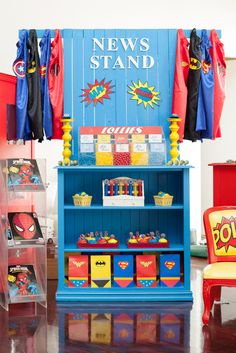 Awesome Superhero party!  See more party ideas at CatchMyParty.com!