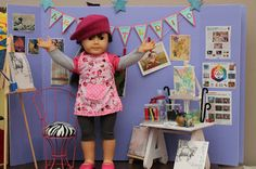 Making an Art Studio for Your Dolls