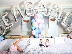 "Silver #Megaloons® ""Dem Babies"" Mariah Carey & Nick Cannons Twin babies - Monroe & Moroccan."
