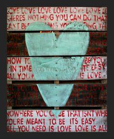 Pallet love Art for your walls - Wooden Pallet Furniture