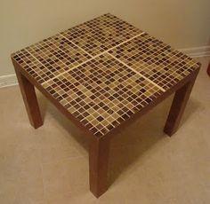 Tile an old IKEA table.