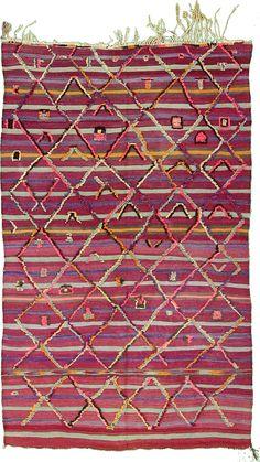 Purple 100% Wool 5' 0 x 8' 4 Moroccan Rug @ESALERUGS.COM