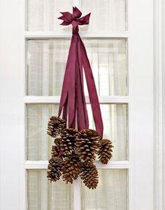 the doors, door hangings, ribbon, front doors, fall decorations