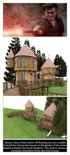 yard, tree houses, hogwart