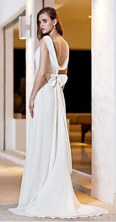 cowl back gown