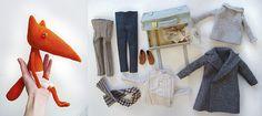 Handmade Fox doll & accessories by Nalogina Lubov