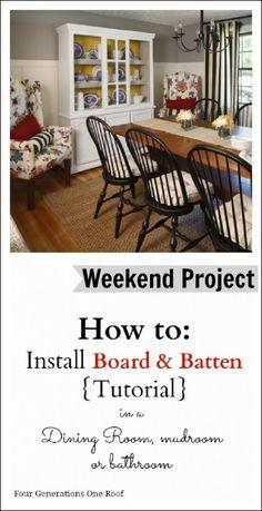 #DIY board and batten #tutorial by Jessica Bruno www.fourgenerationsoneroof.com