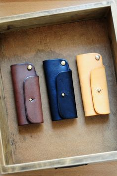 Handmade Mini Leather Key Holder by ArtemisLeatherware on Etsy, $42.00
