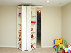 Cool idea for a utility room door in the basement