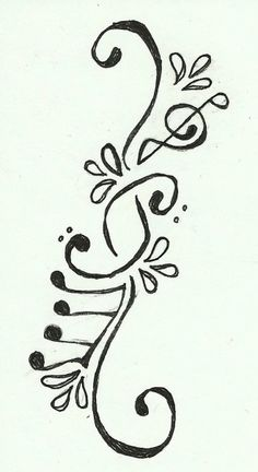 Music tattoo love this!!!!.... Ashlee thunk you can draw something like this up for a forearm???