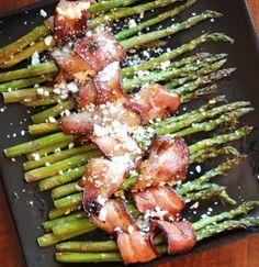 Bacon-Wrapped Asparagus with Feta