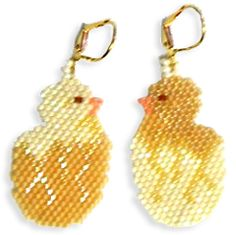 Earring Chicks  - A project from Bead-Patterns the Magazine Issue 40
