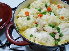 chicken and dumplings for two Just made this and it was soooo good and easy to make. One pot meal :) I will make this again!