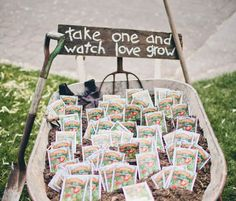 Seed packet - eco-wedding favor #EcoFriendly