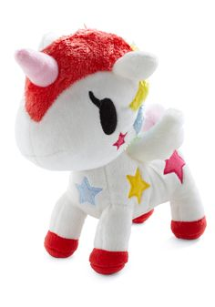 Tokidoki Stellina Plushie -- plastic Tokidoki characters are too pointy for toddlers, but this plushie is soft and features a fantastic bright design - $20