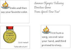 Summer Olympics Following Directions Game  -  Repinned by Columbus Speech & Hearing Center. For more ideas like this visit www.pinterest.com/ColumbusSpeech