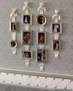 Family wedding portrait wall