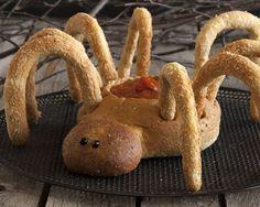 halloween parties, spider dip, spiders, halloween recipe, food kids, bread bowls, holiday foods, dips, dip bowl