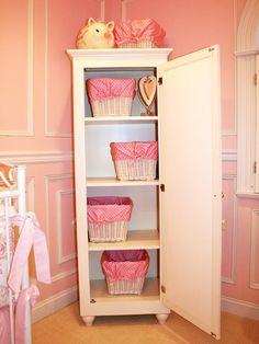 Organized Wardrobe in Pink Nursery : Designers' Portfolio : HGTV - Home & Garden Television