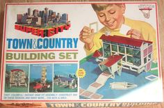 IDEAL: 1968 Super City Town & Country Building Set #Vintage #Toys