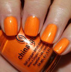 China Glaze Summer Neons '12 - Orange You Hot?