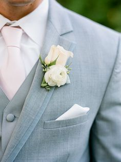 he is wearing this and I am making him, love it! Grey Suits, Tie, Bridesmaid Dresses, Spring Weddings, Blush Pink, Blushes, Groom Suits, Blues, Grooms