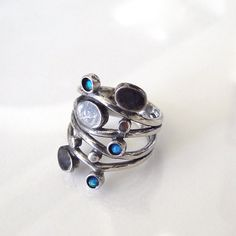 Sterling silver and opal ring.