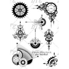 Steampunk Gear stamps new at Katzelkraft!
