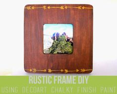 punk projects: Rustic Painted Frame DIY