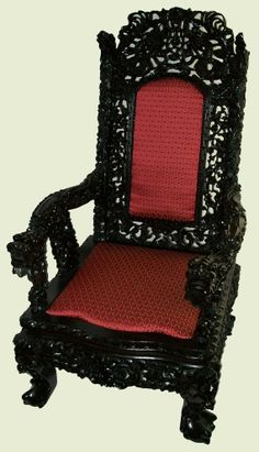 Chinese Carved Chair | Antique Heavily Carved Chinese Chair Mahogany Ball and Claw Feet ...