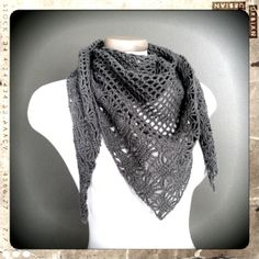 Crochet triangle scarf @Winona Youckton this is something you can make for bazaars :)