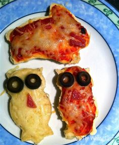 Kid Dinner Idea:  Cookie Cutter Pizzas - Can use idea and make #vegan and #glutenfree