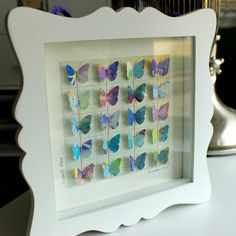 Paper Butterfly Shadowbox (Hope Floats). $42.00, via Etsy.