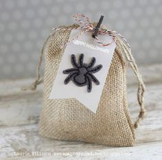 Happy Halloween Gift Bag & Tag by Laurie Willison for Papertrey Ink (August 2014)