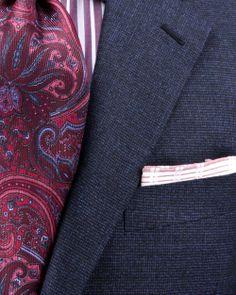Belvest | Blue Mini Check Suit | Apparel | Men's