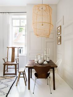 A Very Small Studio Apartment In France | Lovery dining room