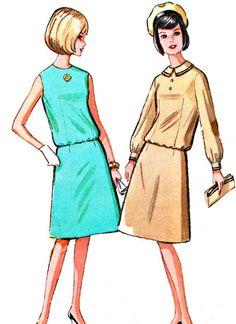 1960s Dress Pattern McCalls 7202 Two Piece Dress A by paneenjerez, $10.00