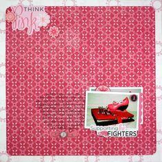 Think Pink Scrapbooking Layout Idea