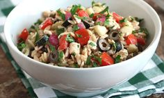 You can never have too many great pasta salad recipes. This version comes with plenty of fresh vegetables and delicious Mediterranean flavors.