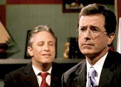 The dream team. Stewart and Colbert.