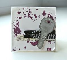 hand carved key stamp #undefined she traced her house key