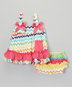 Infant Rainbow Zigzag Swing Top & Diaper Cover